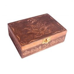 OM COPPER PLATED BOX 12.5CM X 17.5CM