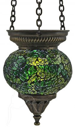 Turkish Mosaic Hanging Tealight - Small - Green