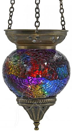 Turkish Mosaic Hanging Tealight - Medium - Rainbow