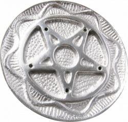 White Metal Round Holders