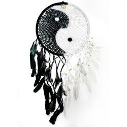 Crochet Yin Yang Dream catcher – Large
