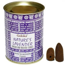 GOLOKA BACKFLOW – NATURES LAVENDER INCENSE CONES