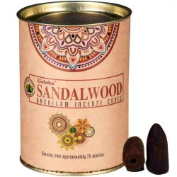 GOLOKA BACKFLOW – SANDALWOOD INCENSE CONES