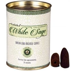 GOLOKA BACKFLOW – WHITE SAGE INCENSE CONES