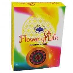 GREEN TREE CONES – FLOWER OF LIFE