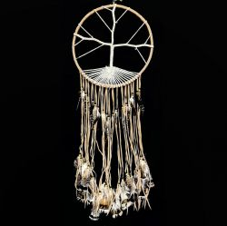 Crochet Tree of Life – Tan Dreamcatcher