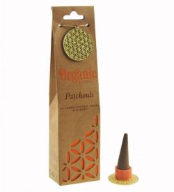ORGANIC Goodness Incense Cones Patchouli with Ceramic Holder