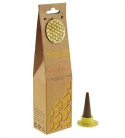 ORGANIC Goodness Incense Cones Sandalwood with Ceramic Holder
