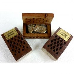 Rosewood Cutwork Box with BROWN AMBER