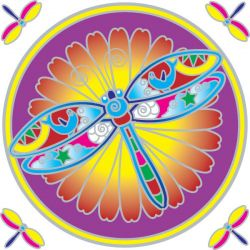 SUNSEAL DRAGONFLY MANDALA