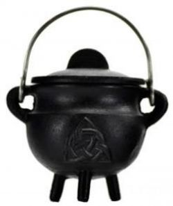 Cauldron  Black Cast Iron Triquetra Medium