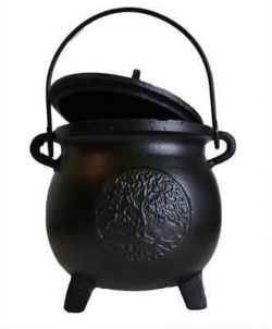 Cauldron Black Cast Iron Tree Of Life Large