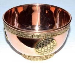 Copper Flower Of Life Bowl 8cm