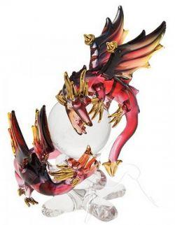 Large Dragon & Baby - Red/Black