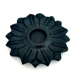 Incense & Cone Holder Black Stone LOTUS