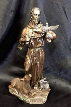 ST FRANCIS OF ASSISI  Statue 22cm H