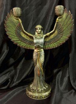 ISIS Egyptian Goddess Candleholder Statue  33cm H