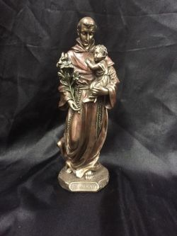 SAINT ANTHONY AND CHILD Statue 21cm H