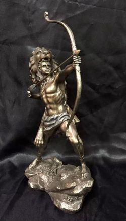 HERCULES Greek God Bronze Coated Cold Cast Statue  30cm High