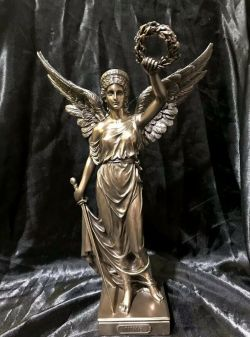 NIKE Greek Goddess Bronze Cold Cast Coated Statue 34cm Tall