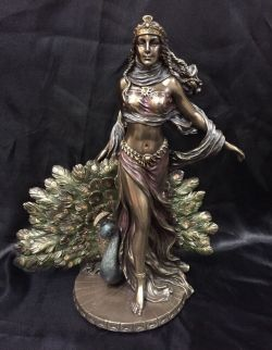 HERA Goddess Of Women Marriage  Bronze Cold Cast Coated Statue 22cm Tall.
