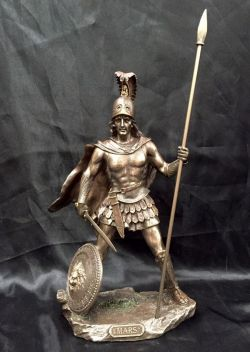 MARS Greek God Bronze Cold Cast Coated Statue  33cm H