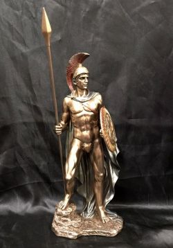 ARES Greek God Bronze Cold Cast Coated Statue  31cm High