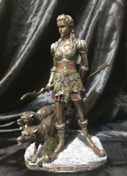 SKADI Norse Viking Goddess Statue 27cm H