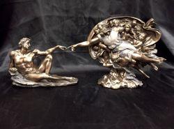 "MICHELANGELO'S ""CREATION OF ADAM""Statue"